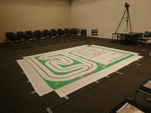写真:ET & IoT West 2021 セミナーセッションで用意されたETロボコン2021 レプリカコース