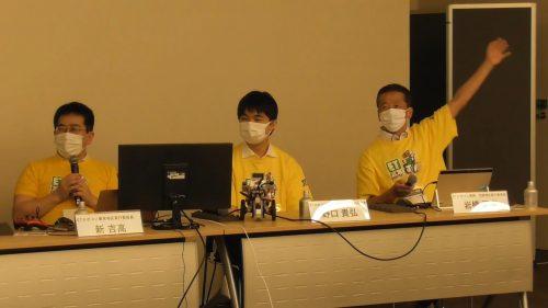 写真:セミナーセッション第五部のパネリストの新氏、野口氏、岩橋氏